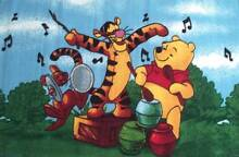 Beautiful and Decorative Pooh Music kids rug in 100 x 150 cm St Marys Penrith Area Preview