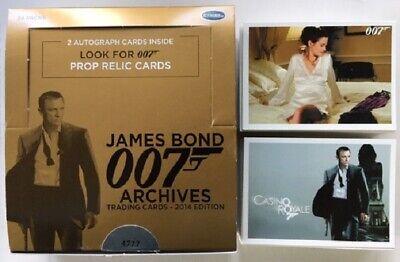 James Bond 007 Archives 2014 Edition Trading Cards Complete Base Set
