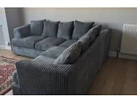 NEW LIVERPOOL JUMBO CORD CORNER SOFA AVAILABLE IN THREE AND TWO'S AS WELL ORDER NOW