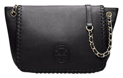 NWT Tory Burch Classic Marion Small Flap Leather Shoulder Bag Black MSRP $450