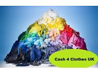 Cash for Clothes Colchester we pay 60p per 1kg of clothes Don't bin it Cash it in!