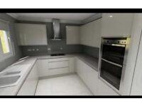 Kitchen Worktops and cupboards