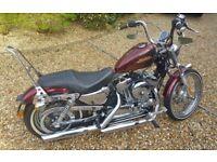 Harley Davidson Sportser 72 in Hard Candy Red