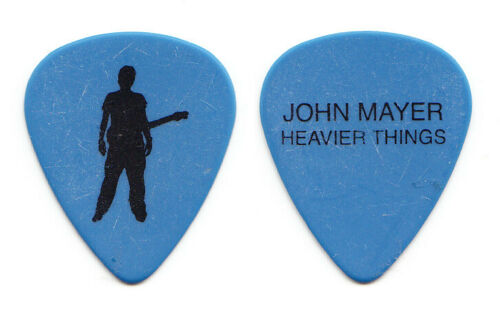 John Mayer Signature Blue Guitar Pick #2 - 2003 Heavier Things Tour