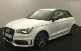 WHITE 3 DOOR AUDI A1 1.6 2.0 TDI SPORT S LINE BLACK EDITION FROM £45 PER WEEK!