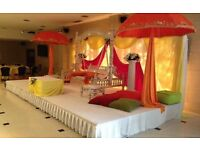 wedding and mehndi stage for hire