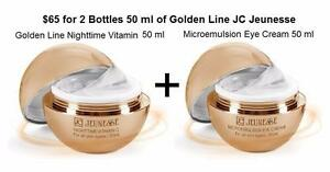 2 Bottle of 50 ml each JC Jeunesse Cream Golden Line Night time Vitamin and Microemulsion Eye (an $95 Value)