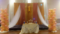 Cheap backdrops, centrepieces and much more!