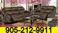 NO TAX 3PCS RECLINER SOFA SET $1099