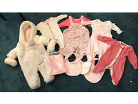 Cute baby girl branded winter clothes bundle 0-3 months