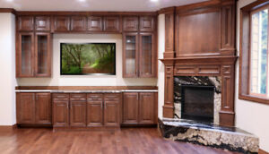 PROMOTION DEAL Maple solid wood cabinets and quartz counter top