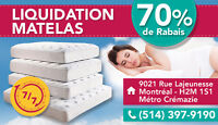 $$ LIQUIDATION MATELAS PAS CHER 70% $$