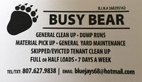 Dump runs / fall clean up / yard and general cleaning
