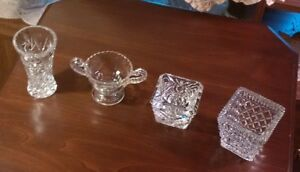 Set of Various Pressed Glass Pieces