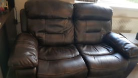 2 Seater & 1 Seater Faux Leather Recliners