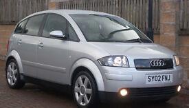 **93k F/S/H** Audi A2 1.4 TDI 2002 SE **Diesel** ( ONLY 1 PREVIOUS OWNER ON V5)