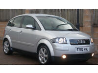 **93k F/S/H** Audi A2 1.4 TDI 2002 SE **Diesel** ( ONLY 1 PREVIOUS OWNER ON V5)
