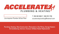 Accelerate Plumbing and Heating Ltd.  306-280-3663  -  Insured