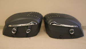 Victory Hard Shell Leather Look Saddlebags $400 OFF