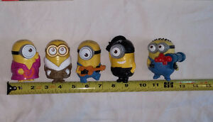 Qty 2 x 5 Minions Movie (Despicable Me) Figures Sets London Ontario image 2
