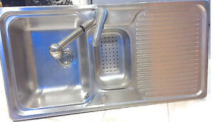 Blanco Stainless Steel Double Sink with drying tray  andMoen Tap