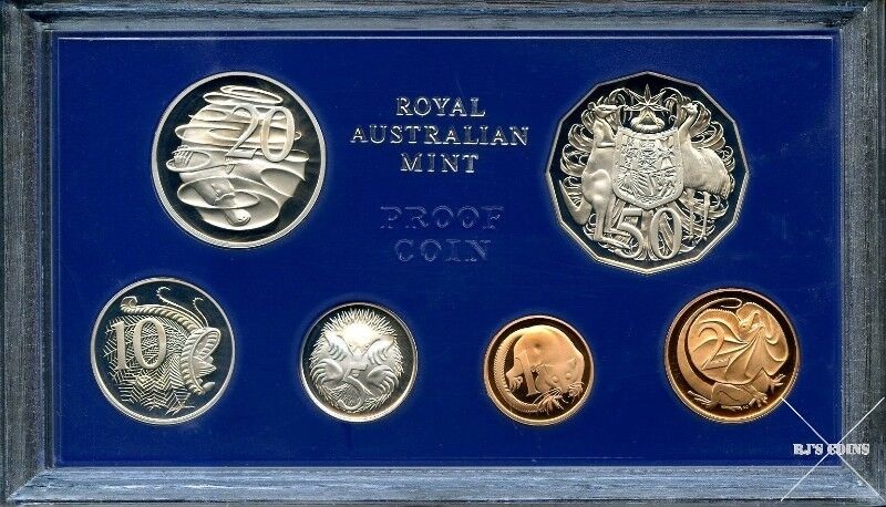 Australian 1980 Proof Six Coin Year Set from the Royal Australian Mint
