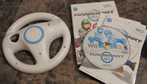Mario Kart for Nintendo wii, with official steering wheel