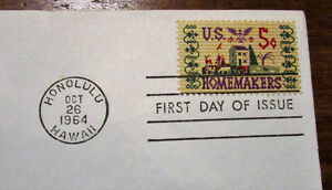 1964 Tribute to American Homemakers 5 Cent First Day Cover Kitchener / Waterloo Kitchener Area image 3