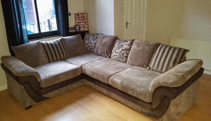 Large Dfs Jumbo Cord Corner Sofa In Norwich Norfolk