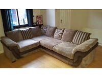 Large DFS Jumbo Cord Corner Sofa