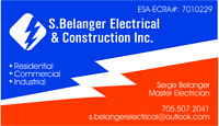ESA ACP pre approved electrical contractor for hire