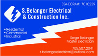 ESA ACP Electrician for hire