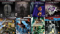 PS3 Games For Sale/Trade - Dishonored GOTY, Uncharted, UFC, more