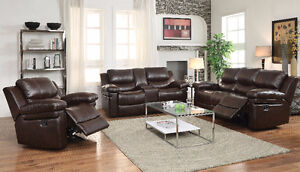 HIGH QUALITY LEATHER RECLINER 3 PCS SET F0R 1799$ ONLY