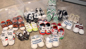 Lot of New Kids Shoes Leftover from Business