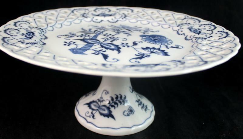 Blue Danube JAPAN Pierced Round Compote GREAT CONDITION
