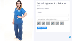 George Brown College - Dental Hygiene Clothes and Textbook