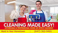 Great Cleaning Service - Same-Day Availability - 647-362-9401