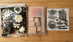 Stamps-Halloween (new), shape stamps (used), flower stamps (used