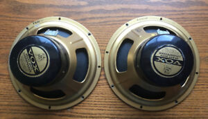 "1967 12"" Vox ""Bulldog"" Alnico Speakers Matched Pair"