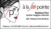 Coiffeuse-styliste-coloriste-visagiste 26 ans d'expérience