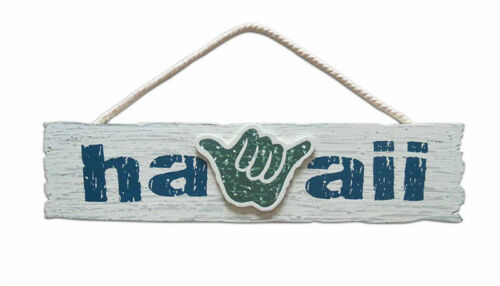 Hawaiian Wooden Wall Sign Hang Loose Hawaii Aloha Island Home Tiki Bar Decor New