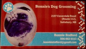 Bonnie's dog grooming accepting new clients