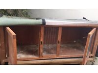 Animal hutch with cover