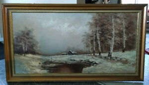 "Vintage painting - 54"" Long and 31"" High"
