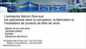 Balcon fibre de verre