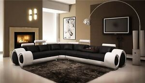 Nova-Black-And-White-Leather-Corner-Sofa-Left-Hand