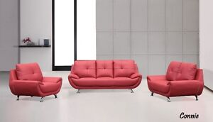 ★LORD SELKIRK FURNITURE★CONNIE 3PC SOFA SET★ RED