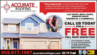 Accurate roofing metal, shingled & flat roofs