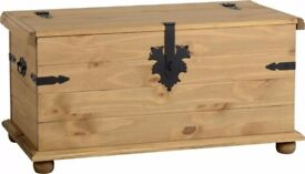Corona Single Storage Chest in Distressed Waxed Pine - New - 1 Left - £84.50